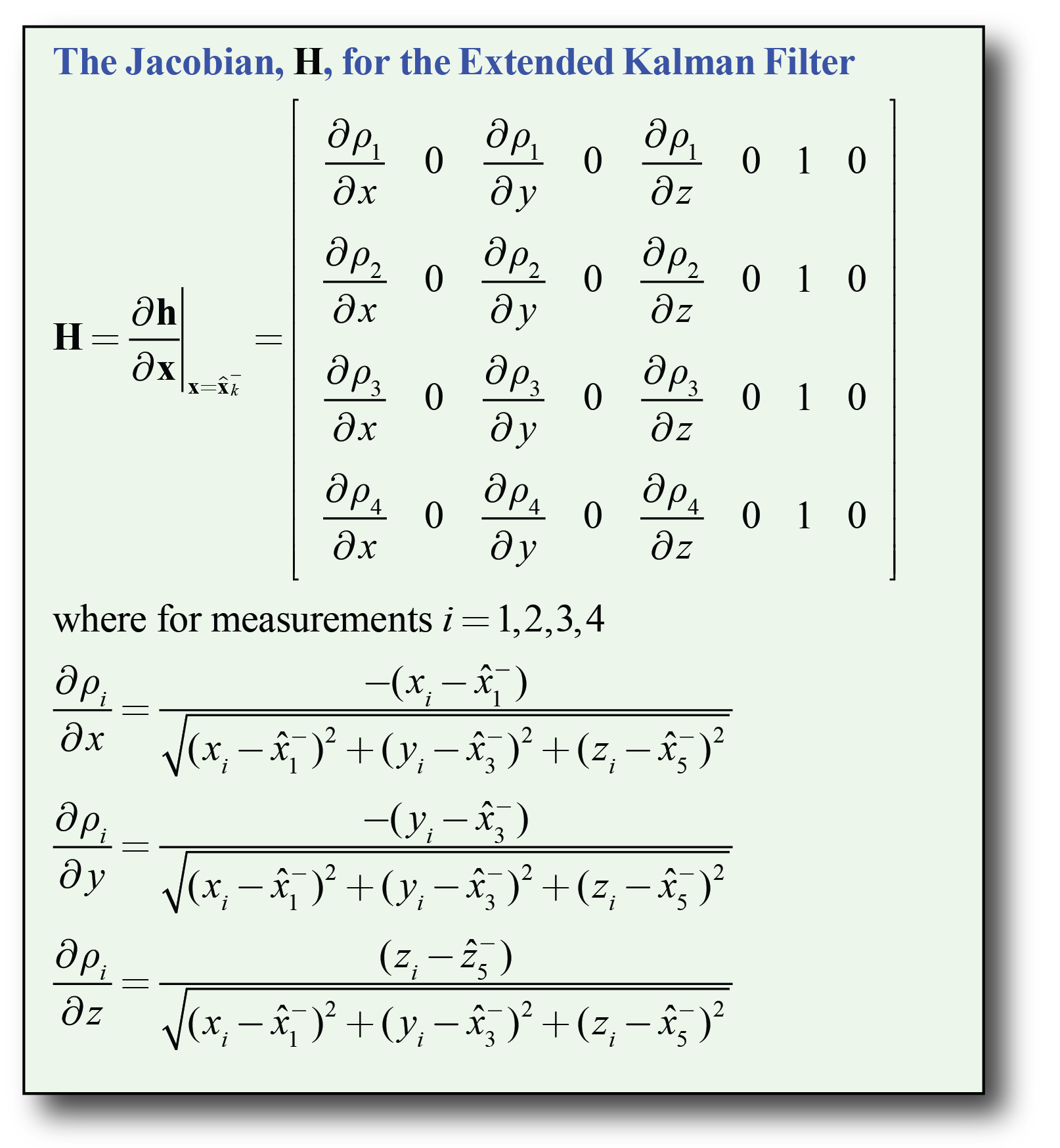 Kalman Filter Variables — gps-helper 1 1 3 documentation